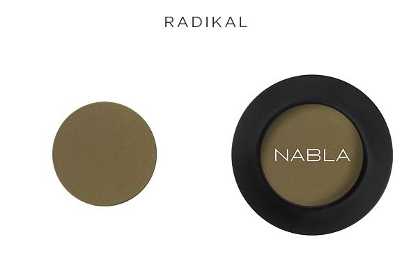 Ombretto super matte Radikal di Nabla Cosmetics