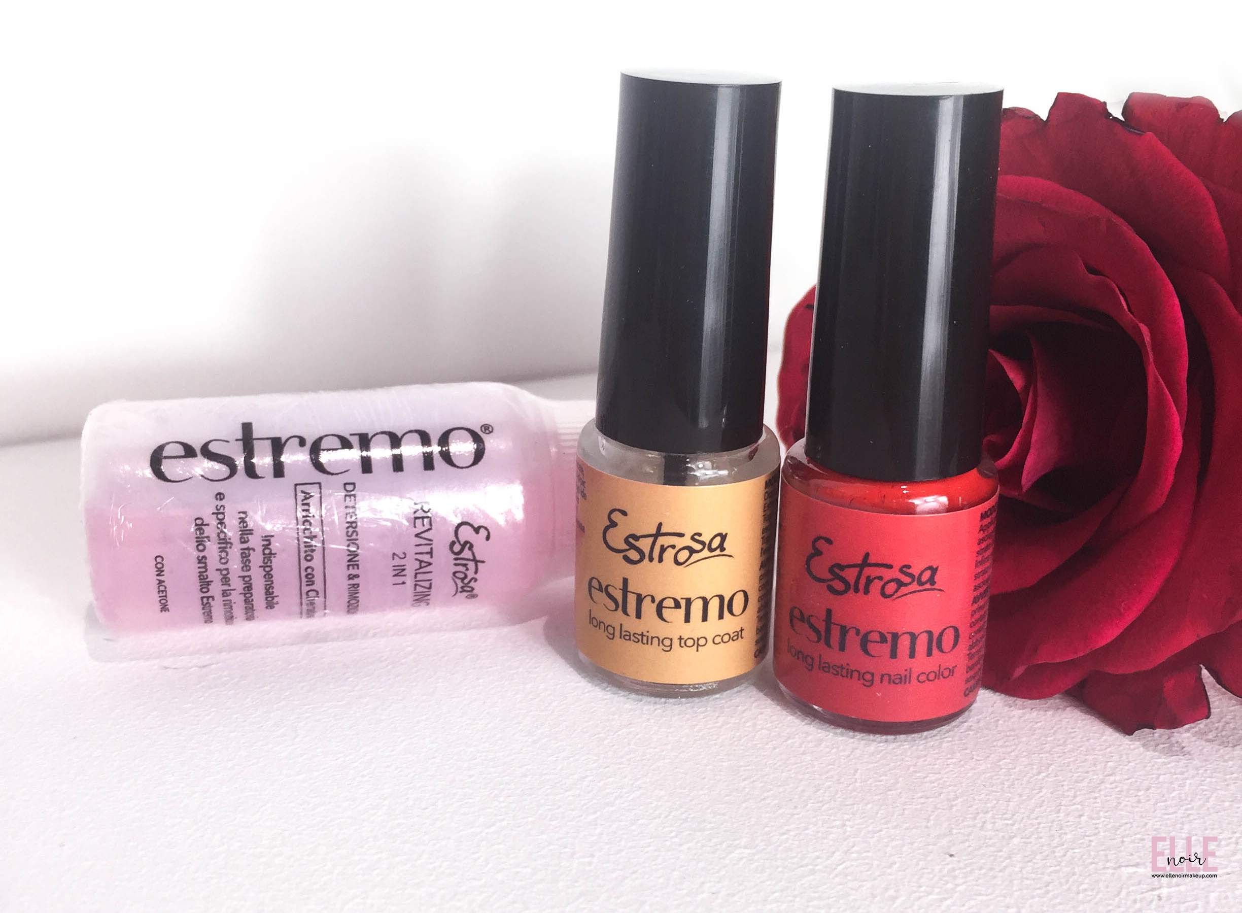 Estrosa - kit smalto Estremo, Revitaliser Remover e Topcoat