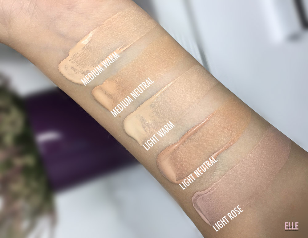 Ecco gli swatches di 5 nuances di Creamy Comfort foundation