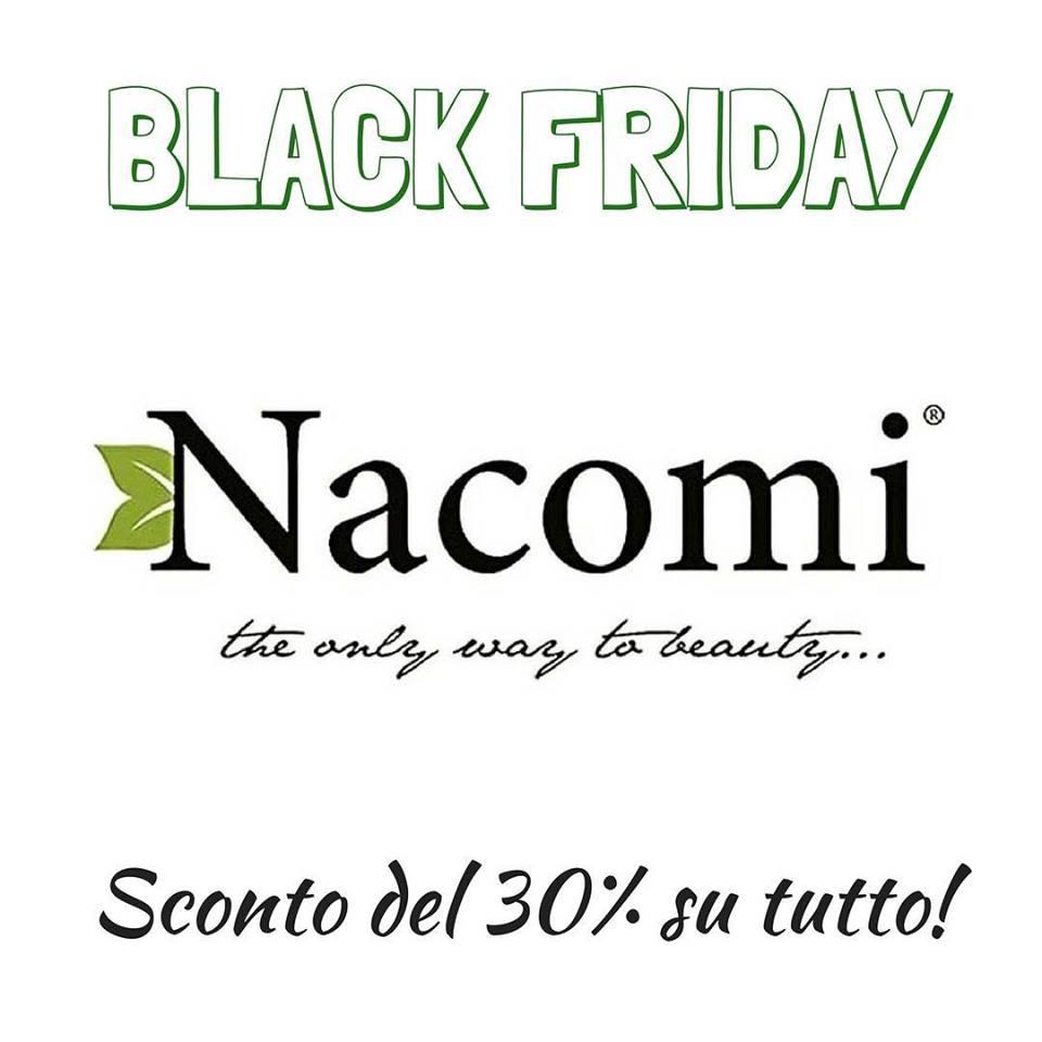 Black Friday Nacomi - Sconto del 30% su tutto. Maschere viso, Scrub Corpo, Scrub Viso, Guanto Kessa Hammam